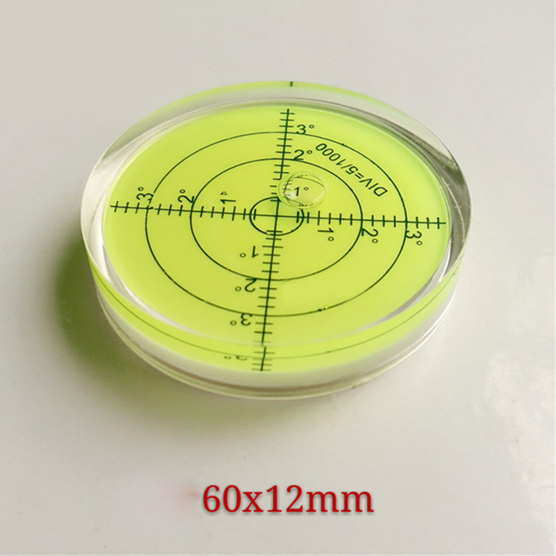 60 12mm Circular Bubble Level Spirit level Round Bubble Level Measuring Instruments Tool Universal Protractor Tool in Level Measuring Instruments from Tools