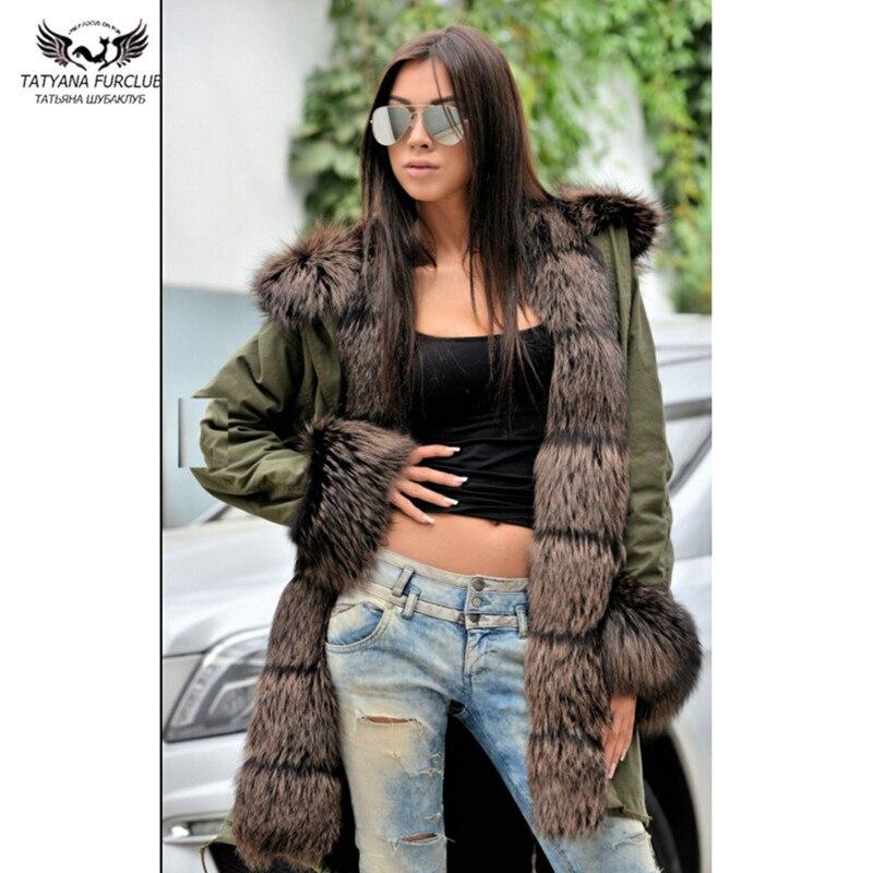 Veste Pour Casual Renard De Tatyana Outwear Réel Fourrure Parkas Longue Hiver Furclub Mode Naturel Femmes Avec Col Solide vAXqAg