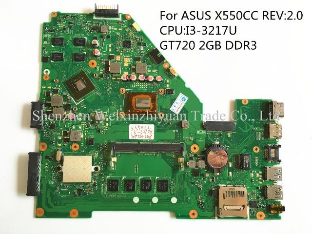 Para asus x550cc gt720 i3-3217u 2 gb ddr3 placa madre del ordenador portátil 100% probados