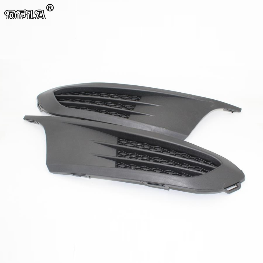 2pcs For VW Jetta MK6 Vento 2011 2012 2013 2014 Car-Styling Lower Bumper Outer Grille Fog Lamp Vent Grille Cover grille