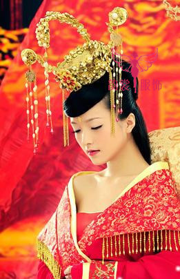 цена на Women's married the bride coronet costume queen hair accessory tang suit hanfu hair accessory