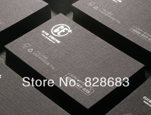 Image 2 - High quality black paper business card  300gms art paper from Belgium hot stamping foil UV spot 500 cards
