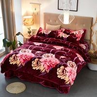 Стильный 4 шт. цветочный/полосатый принт комплект постельного белья Мягкий пододеяльник набор кошмар постельное белье для Хэллоуина цветы