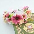 Свадебные Цветочные Корона Руководитель Группы Цветочные Головки Венок Женщины Цветок Оголовье Невесты Свадебный Головной Убор Девушки Цветка Корона