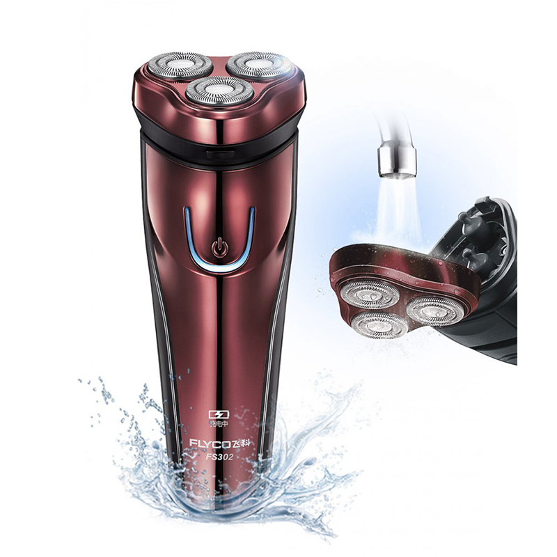 Flyco Electric Shaver 3D Floating Blade Heads Rechargeable Electric Shaver Men Shaving Machine Razors Beard Trimmer Baread FS302 3d floating heads waterproof electric shaver wet