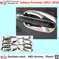 car body protection detector trims ABS chrome External Bowl sticks lamp frame 8pcs for Su6aru Forester 2013 2014 2015 2016