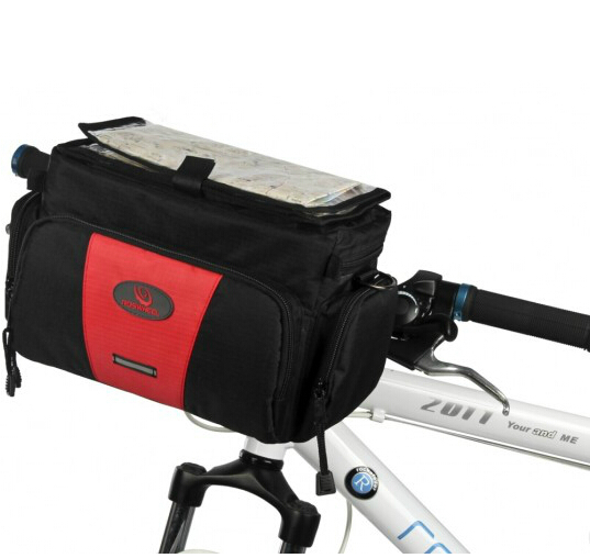 4.5L Bicycle Handlebar Camera Bag Upgrade PVC Cycling Front Tube Frame Pannier Rack Bike Basket - Himalaya Soul store