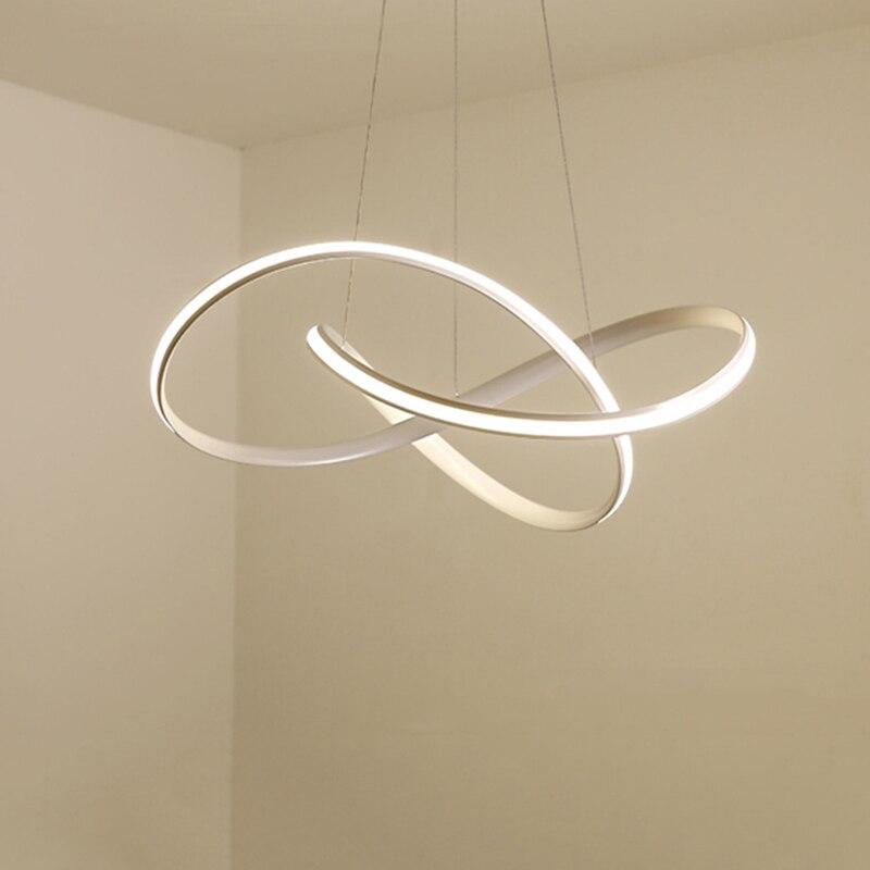 Современные светодиодные люстры для Кухня Обеденная Гостиная подвесной светильник висит белый черный Спальня люстры светильники