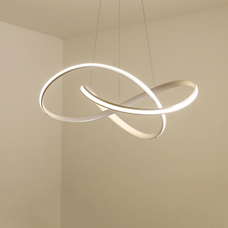Modern Led Chandelier For Kitchen Dining Room Living Room Suspension Luminaire Hanging White Black Bedroom Chandeliers