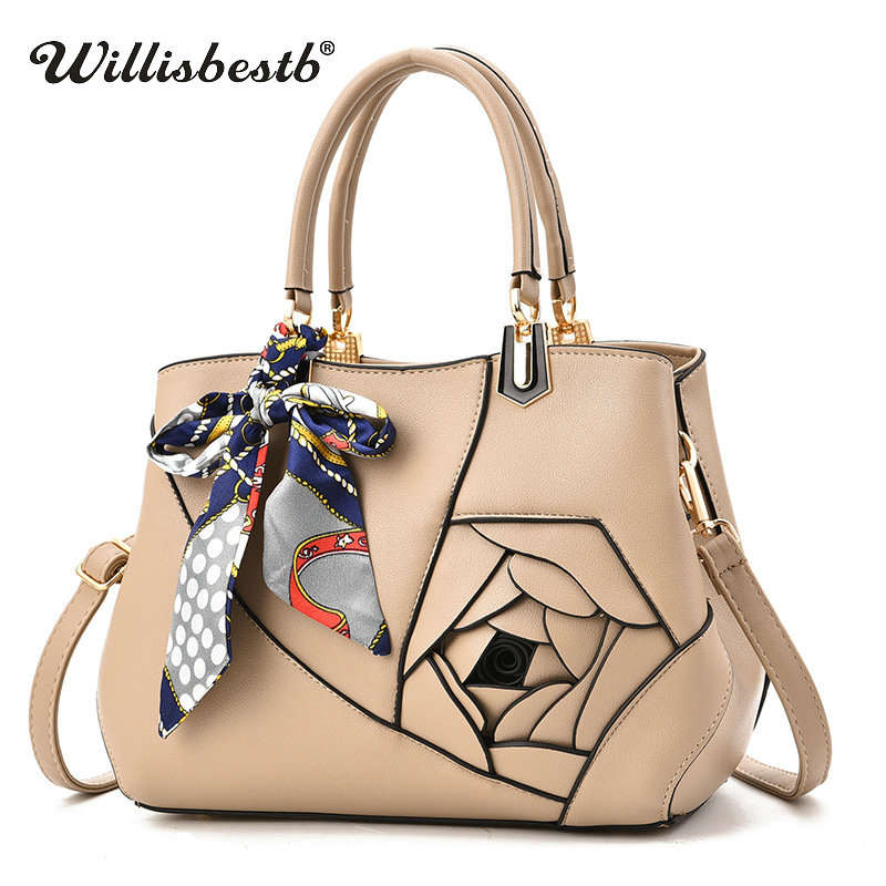 Hot Sale Fashion Flower Women Handbag Luxury Soft Leather Lady Crossbody Bags Casual Clutch Messenger Bag Female Shoulder Bags hot sale leather fashion women messenger bags handbag shoulder bag sailor tsukino usagi clutch casual female gift pouch vintage
