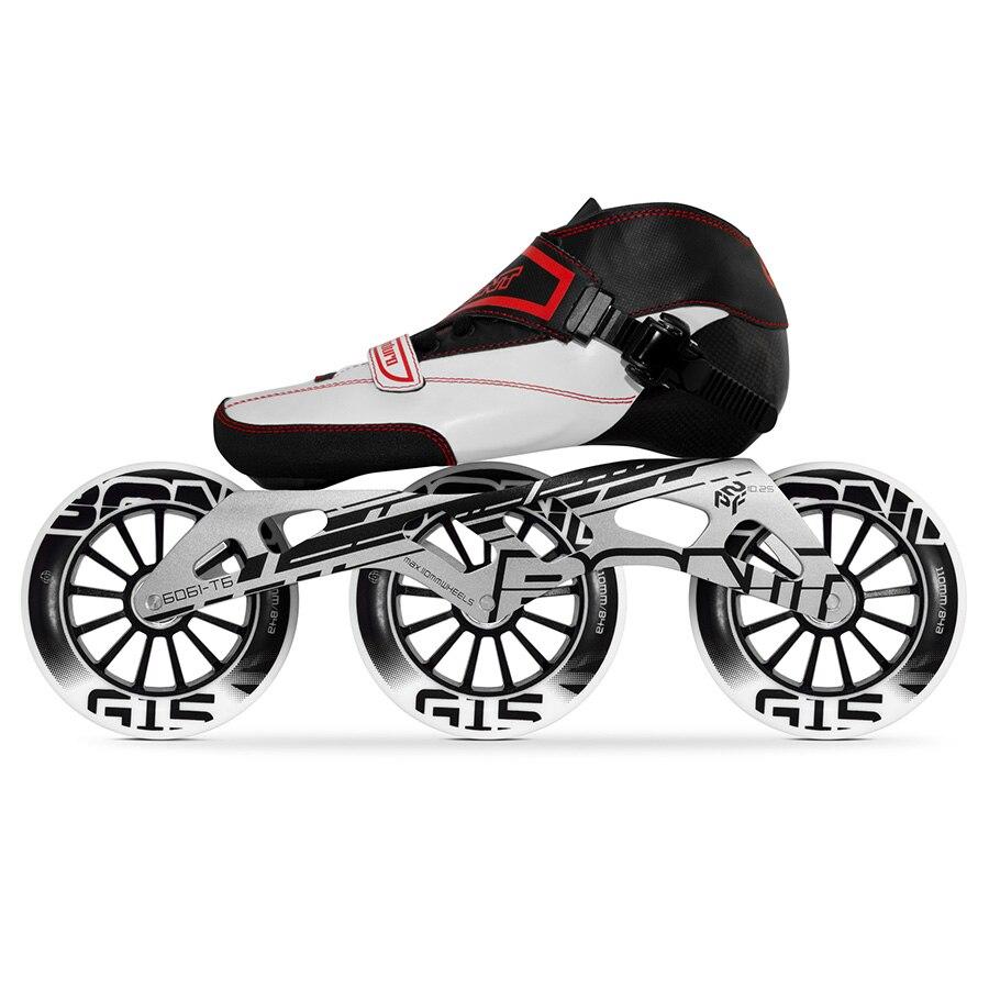 100% Original Bont Enduro Speed Inline Skates Size 29-40 Heatmoldable Carbon Fiber Boot Frame 3*110mm G15 Wheels Racing Patines цена