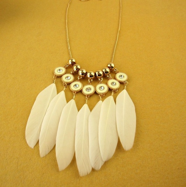 Handmade necklaces for women vintage feather necklaces pendants handmade necklaces for women vintage feather necklaces pendants white feathers necklace long chain choker necklace mozeypictures Gallery