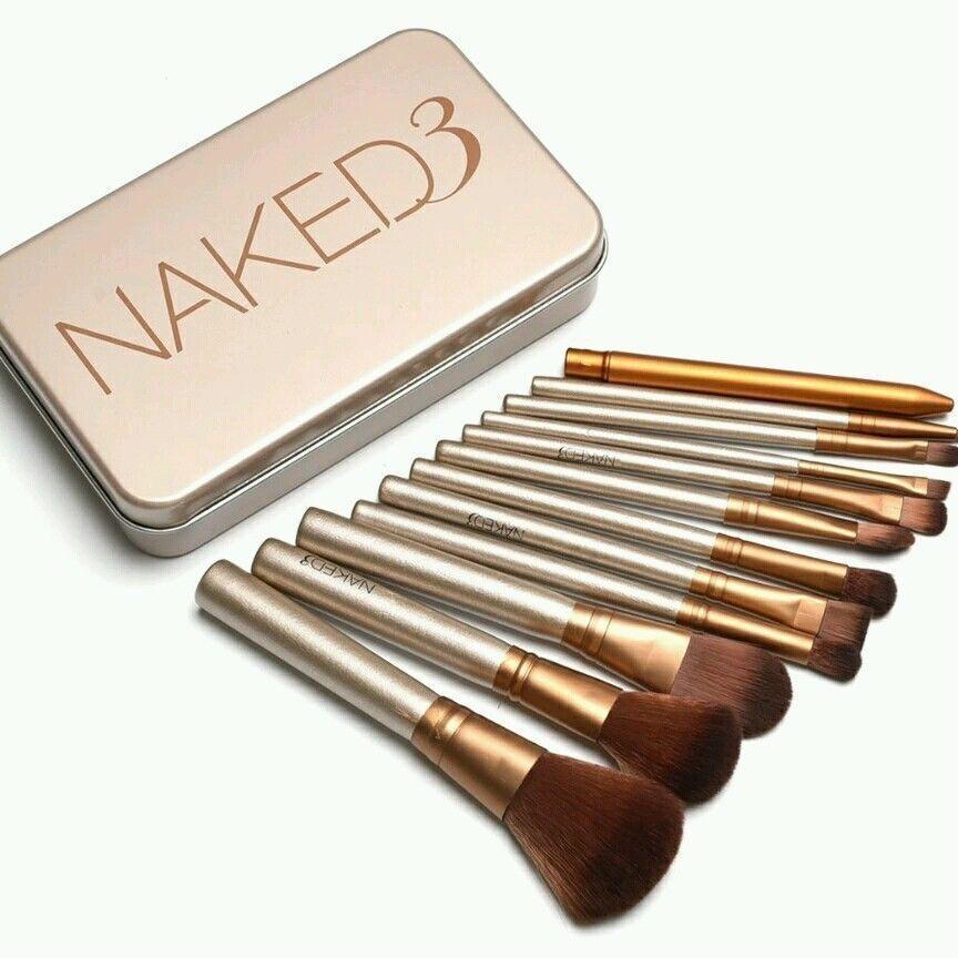 1 Set Naked3 Makeup Brush 12Pcs Set Cosmetic Brushes Blusher Eye Shadow Consealer Lips