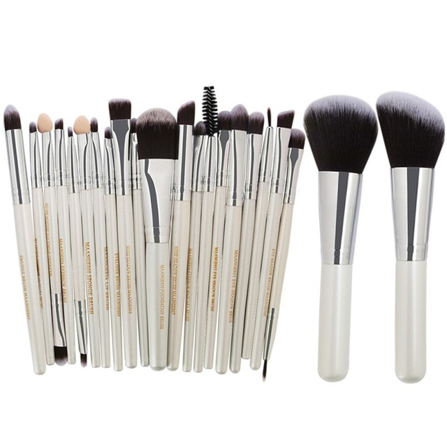 Brochas de maquillaje cosméticas Pro 22 piezas Juego de brochas de maquillaje en polvo Bulsh base sombra de ojos delineador de ojos pincel de maquillaje Maquiagem de calidad superior