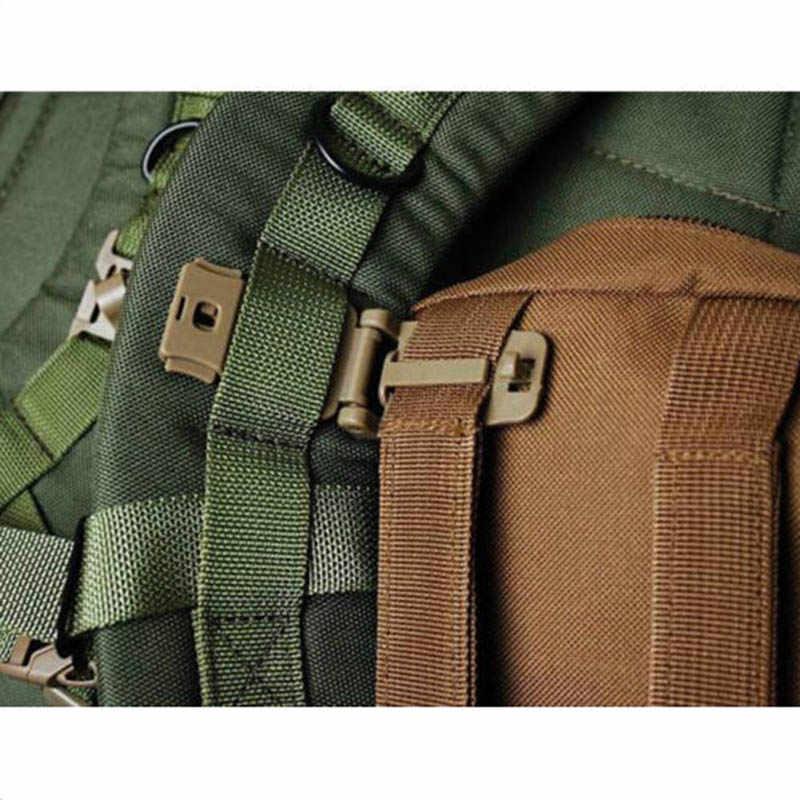 Schnalle bushcraft kit Verbinden molle befestigen Strap link-Taktische Rucksack Tasche Gurtband webdom Gürtel Clip Verschluss Outdoor Camp Wanderung web