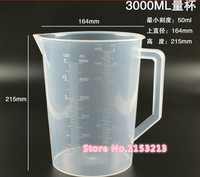 3000mL Capacity Clear Plastic Graduated Laboratory MeasuRing Set Beaker With Handle 5 Pcs Lot Wholesale