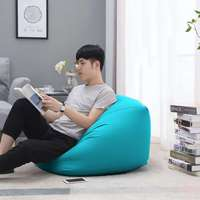 Soft Lazy Bean Bag Sofas Chairs Cover Tatami without Filler Pouf Puff Couch Living Room Lounger Seat BeanBags cover Photo props