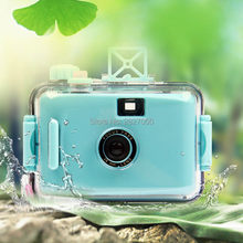 Mini Waterproof Film Camera Baby toy kawaii Educational Take Photo camera toys for children festival gifts(China)