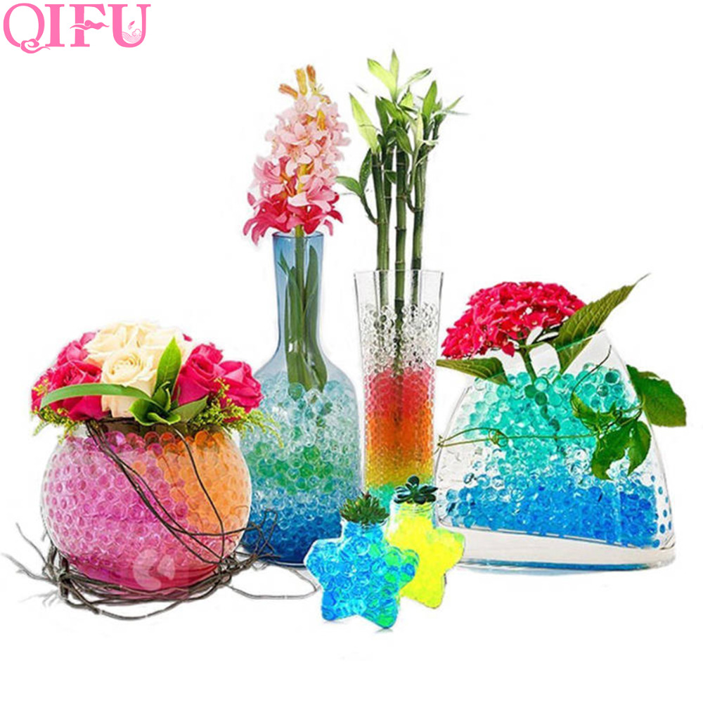 QIFU 2500pcs Magic Crystal Soil Water Beads Wedding Table Decoration Birthday Party Events Home Garden Decoration Jelly Ball