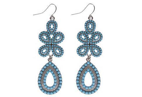 O envio gratuito de New Fashion Retail elegante mulheres Bohemia brinco jóias grosso moda jóias