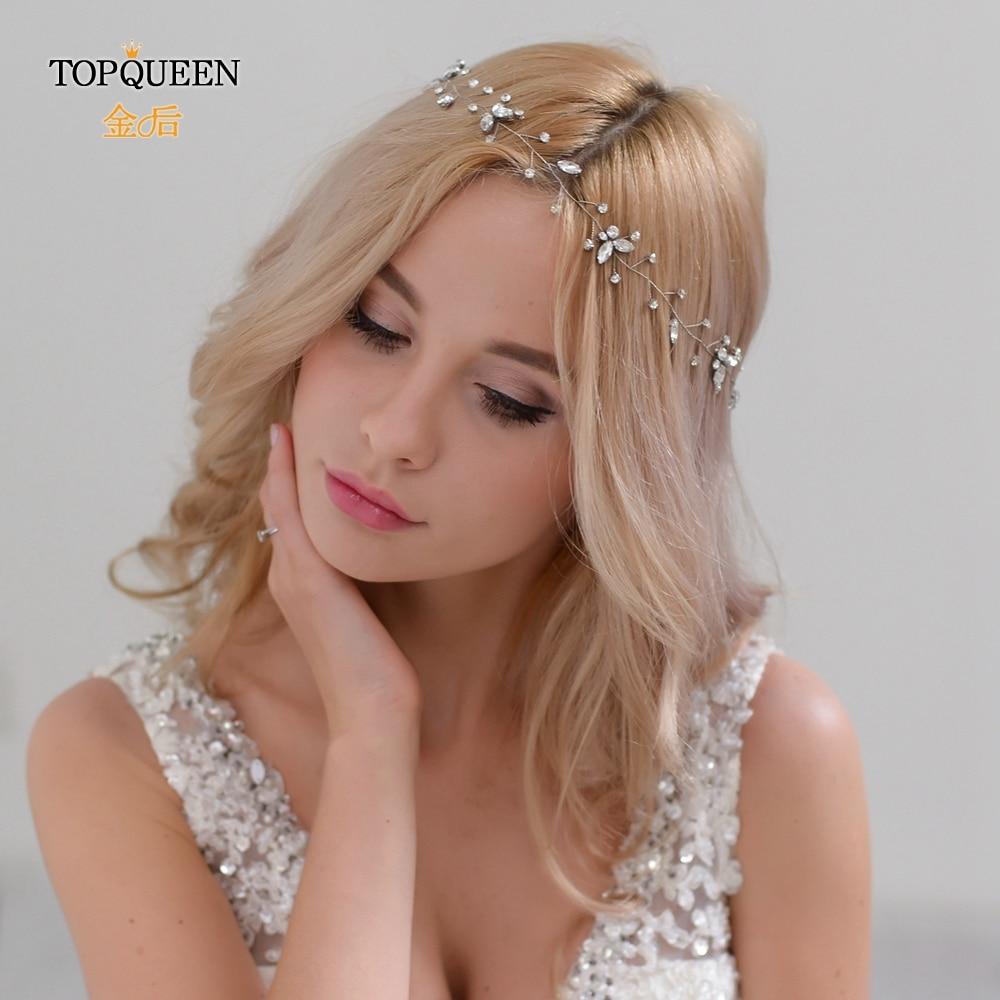 TOPQUEEN HP11 Two Colors Wedding Hair Jewelry Wedding Tiara Bridal Hair Accessories Wedding  Headbands For Bride Headpieces
