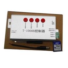 DC5V-24V T1000B with SD Card WS2801 WS2811 WS2812B LPD8806 LPD6803 LED strip digital 2048 Pixels dimmer DMX512 RGB Controller недорого