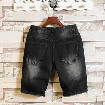 New Fashion Mens Short Jeans Brand Clothing Straight zipper Mens Denim Shorts Slim Casual Summer Short Jeans Shorts Male