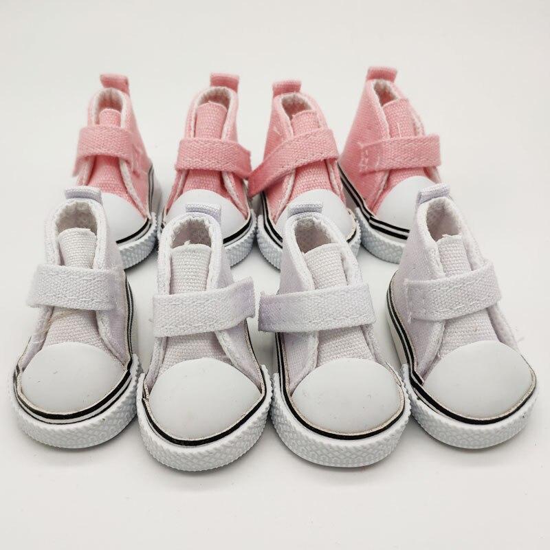 Bonecas bjd de 5cm, sapatos de boneca de lona 1/6, tênis, 1 par