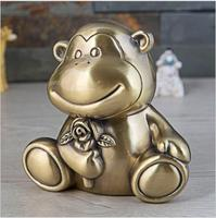 cartoon lovely monkey metal metal piggy bank euro coin holder kids money box for coin money storage money box metal PB059