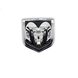 Image 5 - 3D Car Head Grill Tailgate 3D Stickers Metal Emblem Refitting Metal Chrome Badge Emblem Sticker Ram head for Dodge Ram Caliber