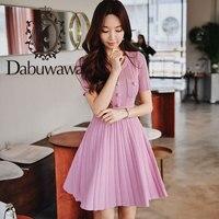 Dabuwawa Women's Knitted Dress 2019 New Summer Elegant O Neck Short Sleeve Slim Short Dress DN1BDR054
