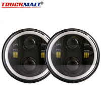 2pcs 5.75inch LED DRL Headlights with Halo Ring Angle Eye Headlamps for Triumph Rocket iii 3 & Speed Triple & Street Triple