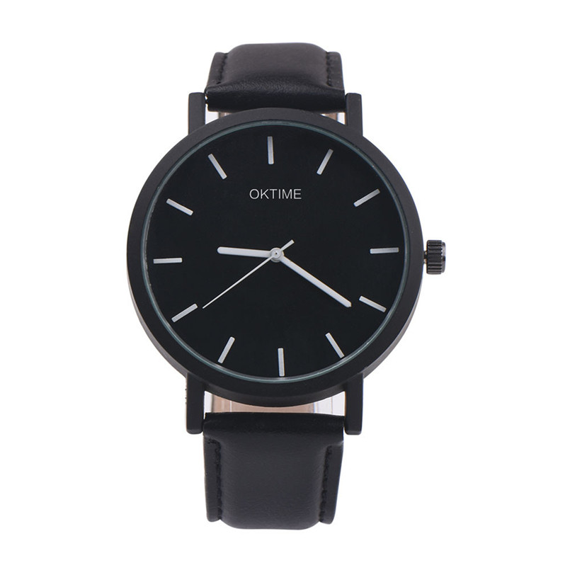 OKTIME 2018  high quality men  watch unisex brand Retro Design Leather Band Analog Alloy Quartz Wrist Watch relogio feminino sunward relogio feminino retro design leather band analog alloy quartz wrist womens watches fashionable horloge 17may3