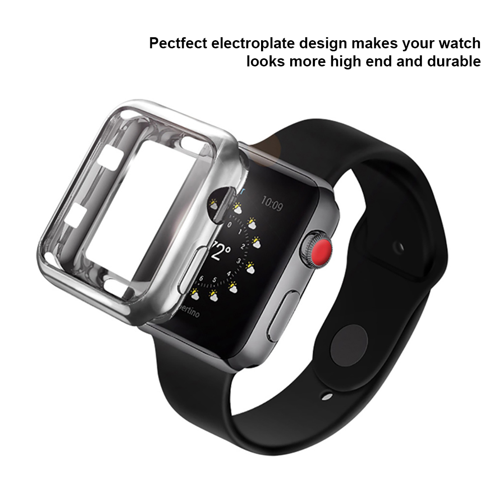 Image 3 - 5 Colors Soft TPU Full Protect Shell Case Cover for Apple Watch Series 3 2 1 38/42mm Cases Protector Ultra Thin Case for iWatch-in Smart Accessories from Consumer Electronics