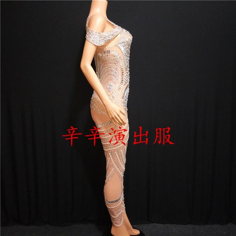 Danse Scintillant Barboteuses Dj D'anniversaire De Strass Color Discothèque Body Scène Afficher Femmes Nude Chanteuse Partie Sexy Salopette Bal Photo 4C0q4wrxZ