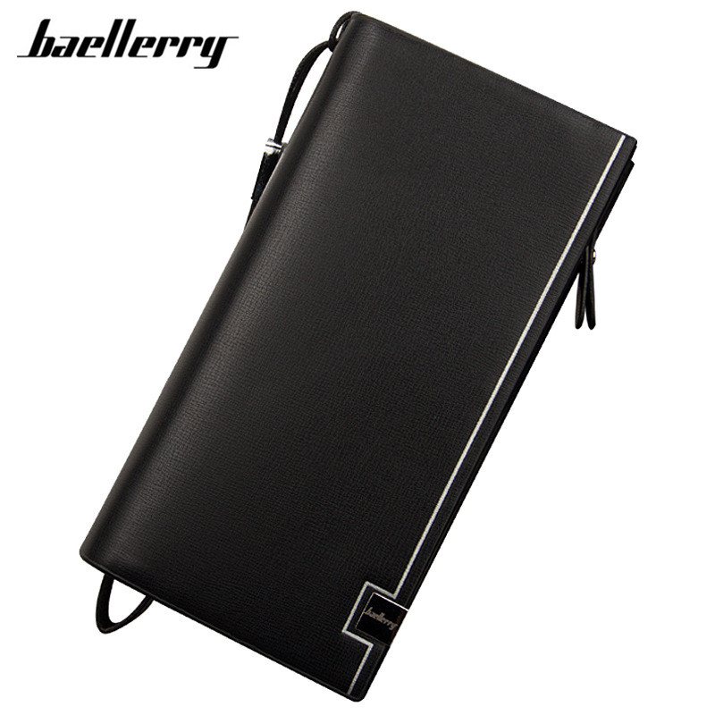 Baellerry 2017 New design men wallets Casual wallet mens purse Clutch bag Brand leather wallet long design man bag gift for male baellerry small mens wallets vintage dull polish short dollar price male cards purse mini leather men wallet carteira masculina