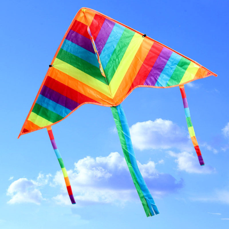Outdoor Fun & Sports DIY Painting Long Tail Small Color Strip Kite Flying Without Handle Line Outdoor Toys Flying Papalote Toy