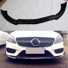 CLS класс углеродное волокно Передняя губная Лопата спойлер для Mercedes Benz W218 CLS550 CLS400 2012- B Стиль защита Бампера