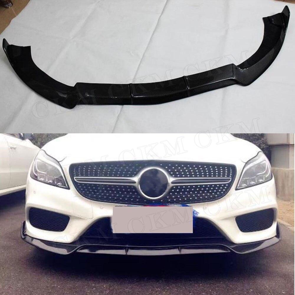 CLS Class B Style Carbon Fiber Front Bumper Spoiler Lip