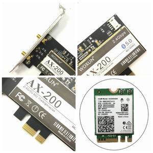 Image 4 - Wireless Desktop for Intel AX200NGW Wi Fi 6 Bluetooth 5.0 Dual Band 2400Mbps PCI Express Wifi Adapter AX200802.11axWindows 10