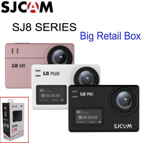 PromotionSJCAM SJ8 Série SJ8 Air/SJ8 Plus/SJ8 Pro 1290 p 4 k D'action Caméra WIFI Télécommande étanche Sport DV vs SJ7 étoiles