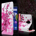 Para a lenovo a 536 callfree saco do telefone pu couro flip case para lenovo a536 a319 a328 microsoft lumia 535 cover-flores