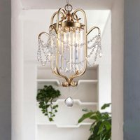 American Restaurant Crystal Pendant Lights Nordic Balcony Dining Table Lamp Corridor Entrance Living Room Bedroom Light