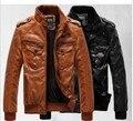 Nueva capa de la chaqueta de cuero grueso de Los Hombres y el terciopelo de cuero hombre macho cultiva su moralidad capa locomotora/grande venta al por mayor