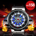 Marca de lujo TVG Reloj LED Hombres Del Coche Creativo Ruleta Led Reloj de Los Hombres Al Aire Libre Se Divierte el Reloj Erkek Kol Saati Heren Horloge