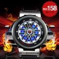 Marca de luxo TVG LED Homens Relógio Roleta Do Carro Criativo Led Relógio Homens Esportes Ao Ar Livre relógio de Pulso Erkek Kol Saati Heren Horloge