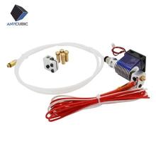 V6 j-head Hotend con Ventilador y el tubo + kit Volcán para Makerbot Reprap impresora(China (Mainland))