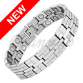 Channah 2017 Men Jewelry 36pcs Magnets Bracelet Silver High Power Magnetic Stainless Steel Male Bangle Free Shipping Charm