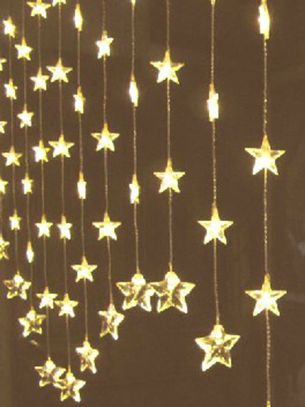 Christmas 80 LED Five Pointed Star Curtain Lights 9 Color To Choose Party Wedding Decoration Fairy String Lamp 1pcs Lot C82 In From