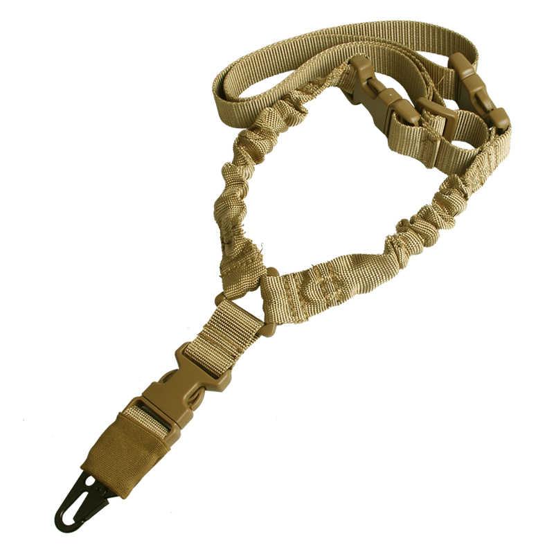 Регулируемый тактический ремень для ружья одноточечный 1000D сверхмощное крепление банджи Военная винтовка Слинг комплект страйкбол ремень HT30-0001
